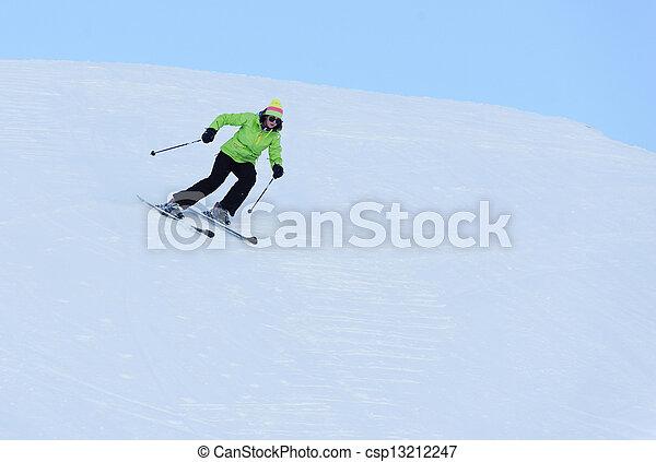 Female athlete running - csp13212247