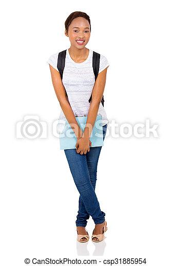 female black college student - csp31885954