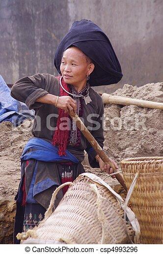 Female Black Dao ethnic - csp4993296