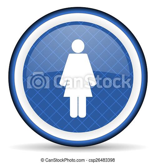 female blue icon female gender sign - csp26483398