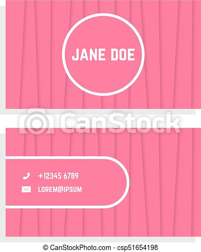 Female business card with pink stripes concept of eps vectors female business card with pink stripes csp51654198 colourmoves