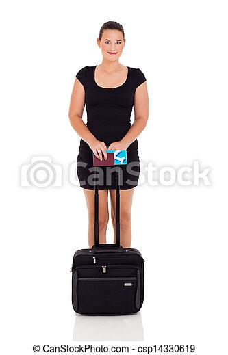 female business traveler - csp14330619