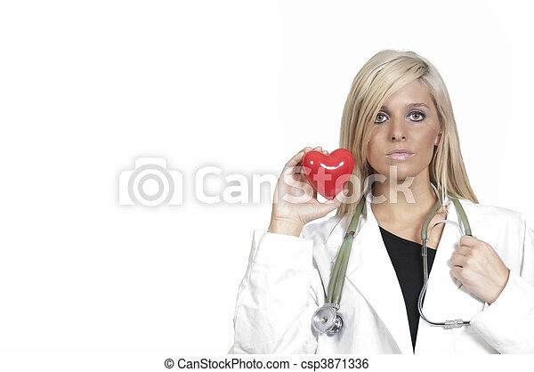 Female Cardiologist - csp3871336