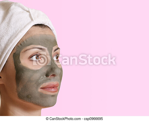 Female clay beauty mask - csp0966695
