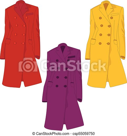 female coat illustration isolated on white fashion clipart vector rh canstockphoto co uk cat clip art cat clip art images