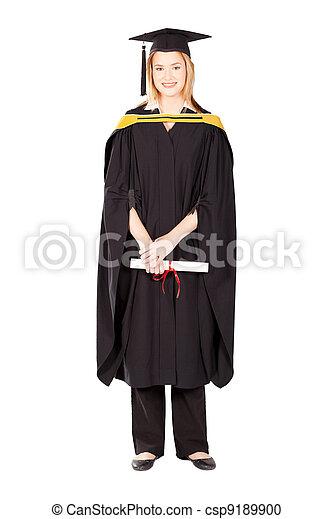 female college graduate - csp9189900