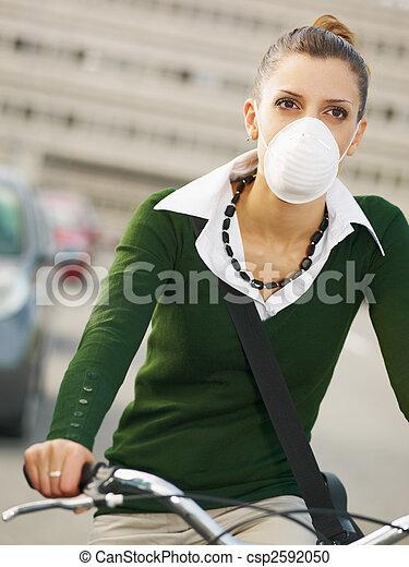female commuter - csp2592050