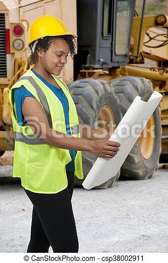 Female Construction Worker - csp38002911