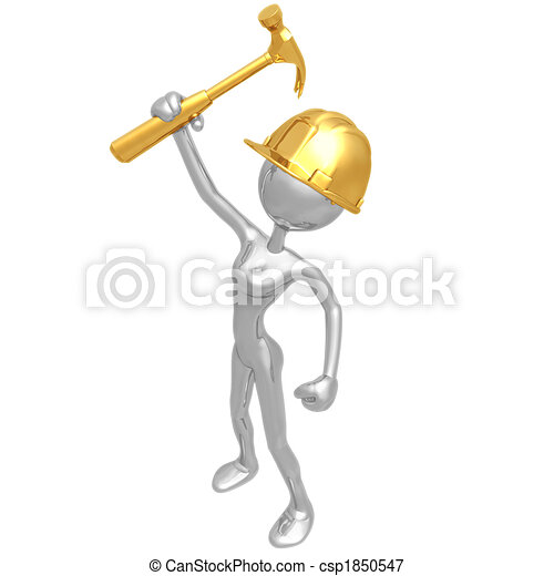 Female Construction Worker - csp1850547