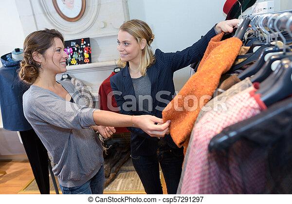 female customer of a fashion store - csp57291297