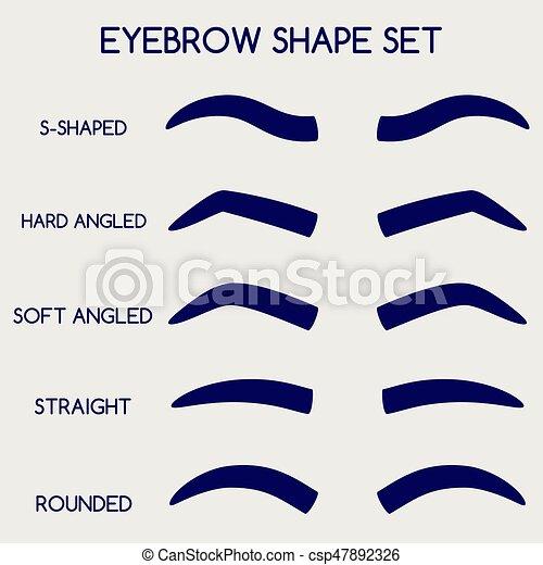 Female eyebrows shape set csp47892326