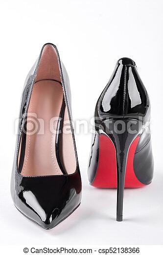 Female fashion louboutin shoes. woman