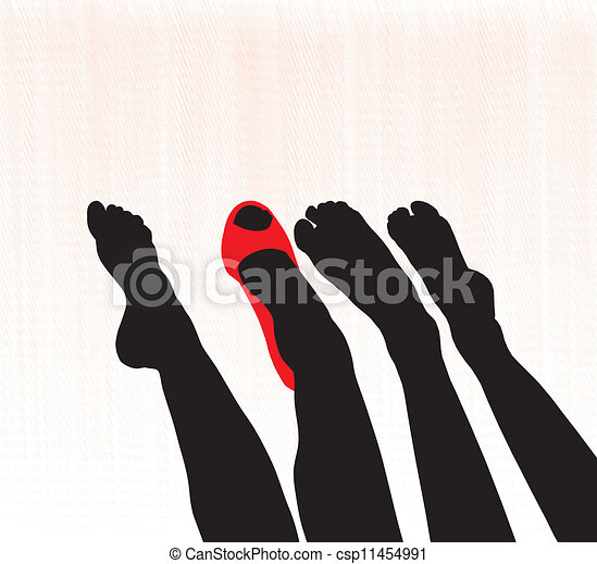 Female feet - csp11454991