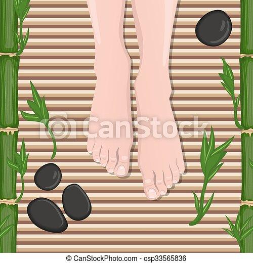 Female feet - csp33565836