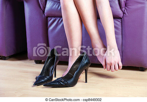 female foot massage - csp8449302