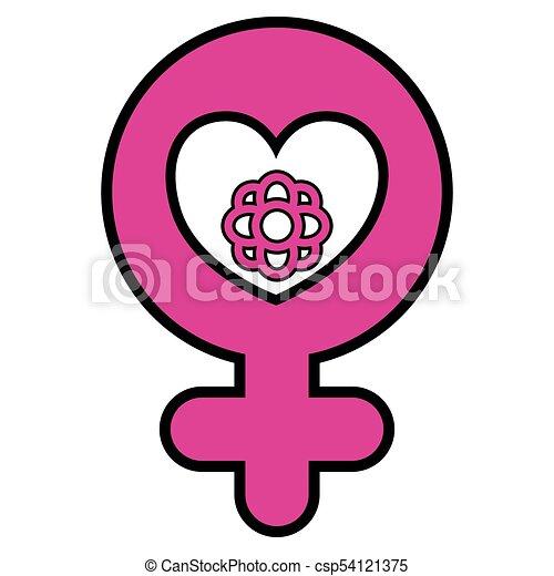 Female Gender Symbol Image Vector Illustration Design