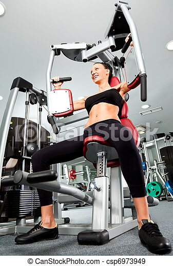 Female gym fitness - csp6973949