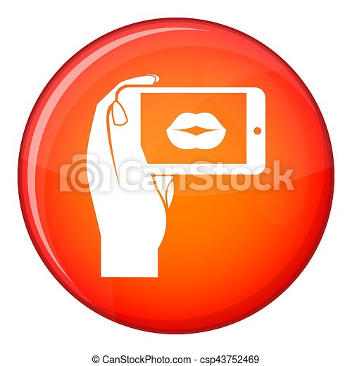 Female hand holding smartphone - csp43752469