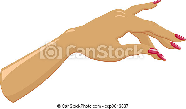 Female Hand With Manicured Over White Eps 8 Ai Jpeg