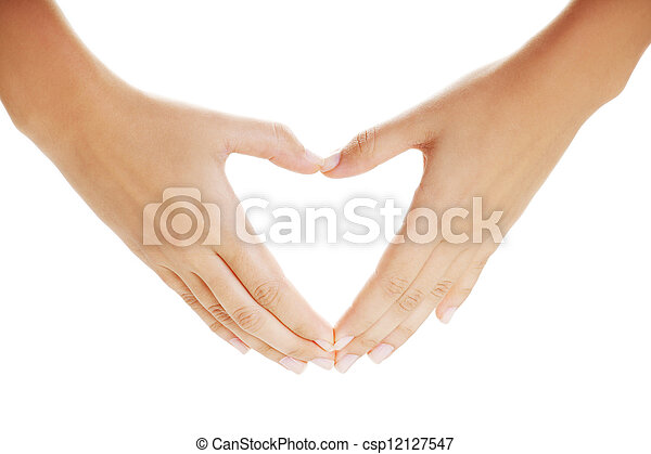 Female hands in the form of heart - csp12127547