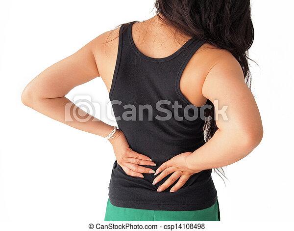 female has backache  - csp14108498