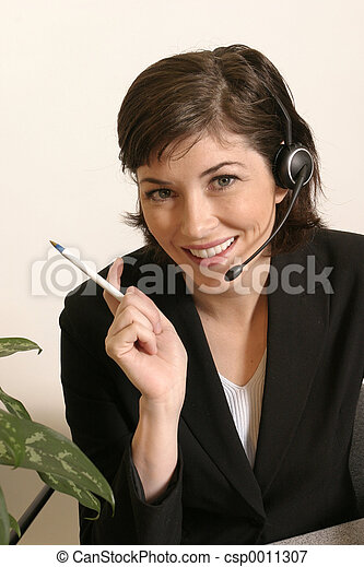 Female Headset Work - csp0011307