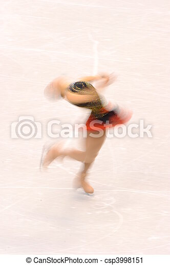 Female Ice-Skater - csp3998151