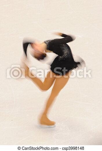 Female Ice-Skater - csp3998148