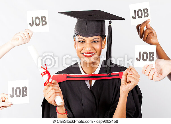 female Indian graduate with job offers - csp9202458