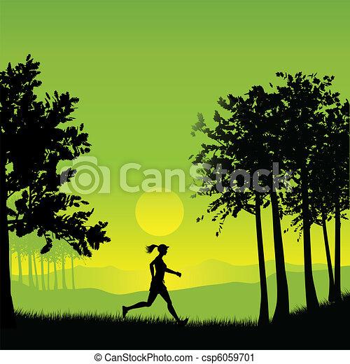 Female jogger - csp6059701