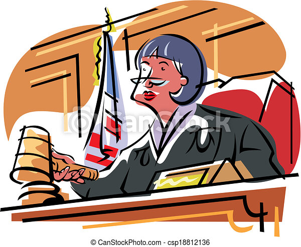 female judges judge in the trial vectors search clip art rh canstockphoto com clipart judge gavel clipart judge hammer