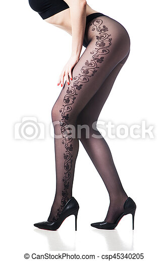 pantyhose legs Black