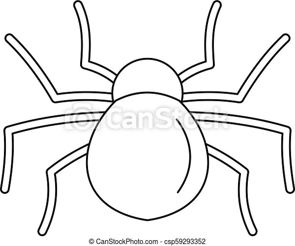 Female mouse spider icon outline style female mouse - Spider outline clip art ...
