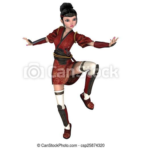 female ninja - csp25874320