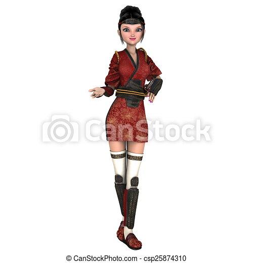 female ninja - csp25874310