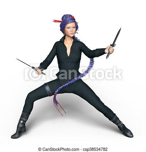 female ninja - csp38534782