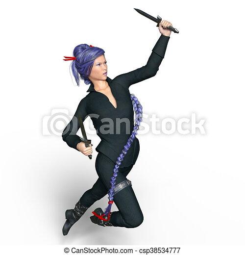 female ninja - csp38534777