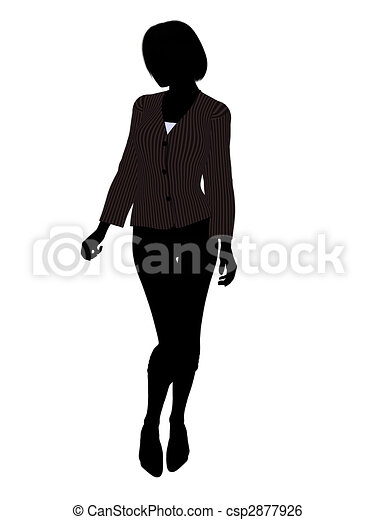 Female Office Illustration Silhouette - csp2877926
