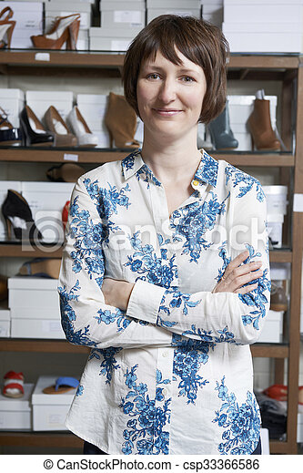 Female Owner Of Shoe Store - csp33366586