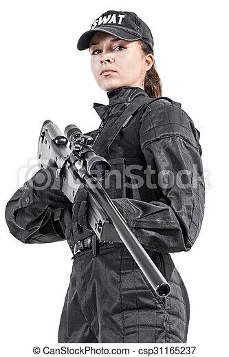 Female police officer - csp31165237