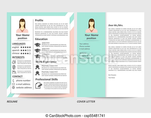 Female Resume And Cover Letter Template