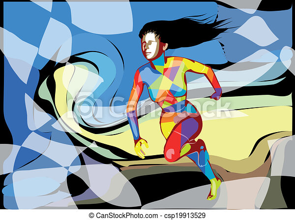 female runner - csp19913529