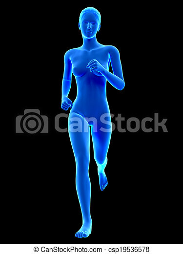Female runner - csp19536578