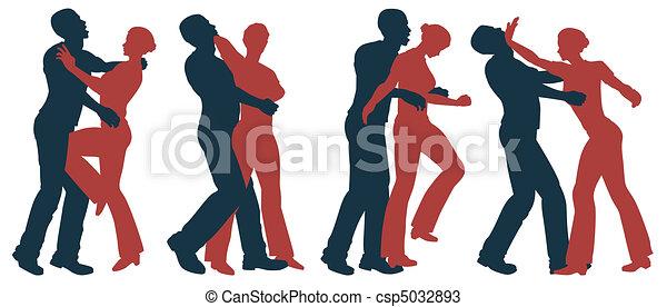 Female self defense - csp5032893