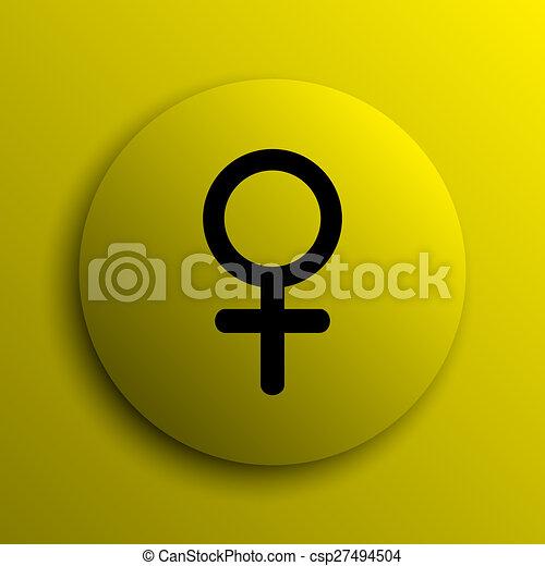 Female sign icon - csp27494504