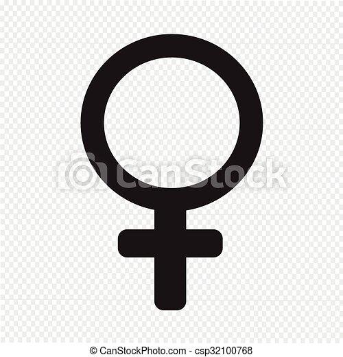 female sign icon illustration - csp32100768