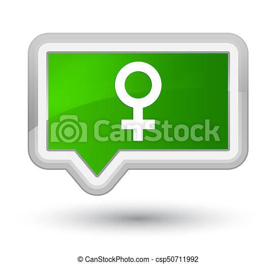 Female sign icon prime green banner button - csp50711992