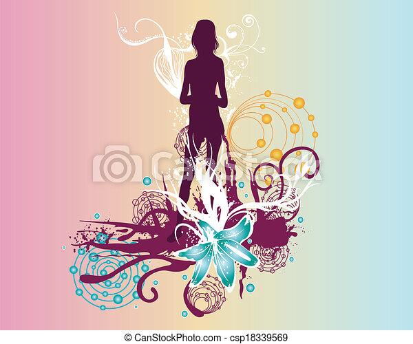 female silhouette - csp18339569