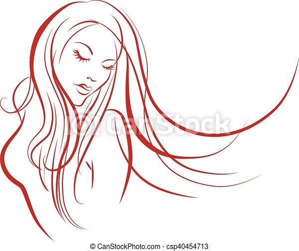 Female silhouette - csp40454713