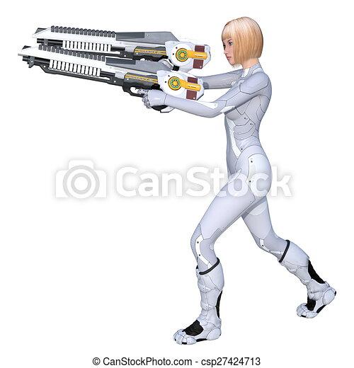 female soldier - csp27424713